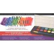 Studio Series Dry Gouache Paint Set (12 Opaque Watercolor Paints) by Peter Pauper Press