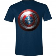Captain America: Civil War - Captain America Shield Men T-Shirt - Navy, Size M