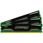 Crucial 6GB kit (2GBx3), Ballistix 240-pin DIMM, DDR3 PC3-10600