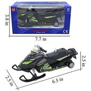 Multifit 1:32 Scale Die-cast Music Snowmobile Lighting Ski-Sport Pullback Racer Model Car(Green)