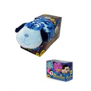 "Bundle Of 2 Items Pillow Pets Jumbo 18 Inches Glow Pet Blue Camo Dog And Dream Lites Mini 6"" Hot Pink Ladybug Nite Light"