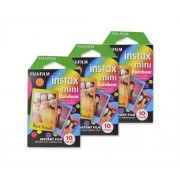 Fujifilm Instax Mini Film for Instant Film Camera - Rainbow 10 Sheets/Pack x 3(total 30 Sheets)