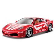2005 Ferrari F430 Fiorano [Bburago 26009], #27, Rojo / Blanco, 1:24 Die Cast