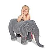 Melissa & Doug Giant Elephant - Lifelike Stuffed Animal (over 1 meter long)