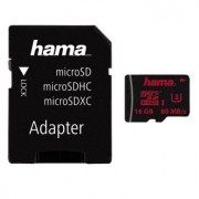 Micro SD Card, 16GB, HAMA microSDHC, 1xAdapter, Class 3 (123980)