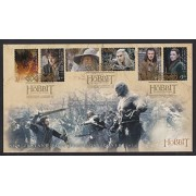 The Hobbit Battle of Five Armies Self Adhesive Collectible First Day Cover Postage Stamps New Zealan