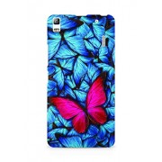 Amez designer printed 3d premium high quality back case cover for Lenovo K3 Note (Beautiful lot of different butterflys)