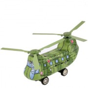 Magideal Vintage Helicopter Wind-Up Tin Toy