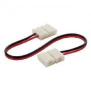 Kanlux Rallonge connecteur bande LED et Clip Connecteur Raccord Pré-Cablé Mono Couleur pour bande 8mm