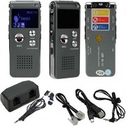 AQURE 8GB Steel Digital Voice Sound Phone Recorder Dictaphone MP3 Player Audio Record with Built-in Lithium Battery
