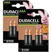 Duracell AAA 750mAh Rechargeable - Pack de 8 (BUN0062A)