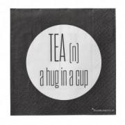 "Pachet Servetele "" Tea n a hug... "", l25xL25 cm, 20 buc/pachet"