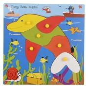 Skillofun Wooden Theme Puzzle Standard Dolphin Knobs, Multi Color