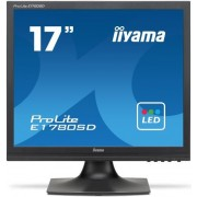 "Monitor TN iiyama 17"" ProLite E1780SD-B1, VGA, DVI-D, 5ms, Boxe (Negru)"