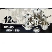 Bavaria batteria di pentole 12 pezzi acciaio inox 18/10 OFFERTA!!!