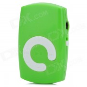 KD-MP3-21-LANSE Mini Portable TF MP3 Music Player w / Clip - verde + blanco (16GB maximo).