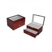 Rothenschild Uhrenbox RS-230-20CW für 20 Uhren cherry