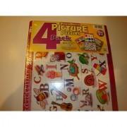 Puzzle Patch Picture Puzzles 4 Pack: #8 (Alphabet Shapes Transportation Animals)