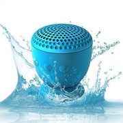 Whitelabel Drop Waterproof Speaker Bluetooth 4.0 Wireless Portable Speaker Subwoofer Bass Sound Box With Suction Cup for iPad, iPhone, smart phones, laptops Blue
