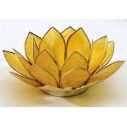 Regnbågsvävar Lotusblomma för värmeljus, gul