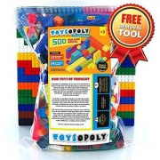 ToysOpoly 500 Pieces Building Bricks - Compatible with Classic Legos Mini Mega Bloks Kinex Sets Creative Duplo Tyco