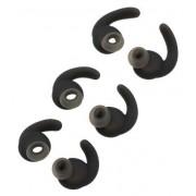 Ear Gel Tips for JBL Synchros Reflect BT, ALXCD 3 Pair SML Sport Anti-Slip Durable Silicone Replacement Ear Tip Eargels, Fit for JBL Synchros Reflect BT Mini BT Bluetooth Earphone[SML][Black](3 Pair)