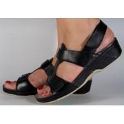 Sandale platforma piele naturala negre dama/dame/femei (cod 245)