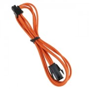 Cablu prelungitor BitFenix Alchemy 4-pini ATX12V, 45cm, orange/black, BFA-MSC-4ATX45OK-RP