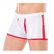 Andalea Doctor Zipper Boxer Brief Underwear White/Red MC-9089