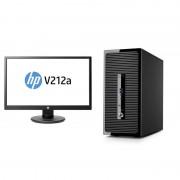 Sistem desktop HP ProDesk 400 G3 MT Intel Core i3-6100 4GB DDR4 500GB HDD cu monitor HP V212a 20.7 inch