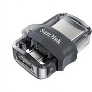 USB DRIVE, 128GB, SanDisk Ultra Dual Drive m3.0, OTG, Black (DD3-128G-G46)