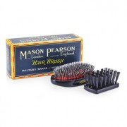 Mason Pearson Boar Bristle & Nylon - Medium Junior Military Nylon & Bristle Hair Brush (Dark Ruby) - Hair Care
