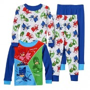 Boys Toddler PJ Masks Pajama Set featuring Catboy, Owlette, and Gekko (4T)