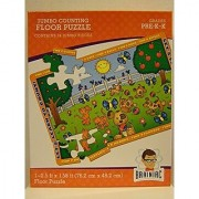 Jumbo Counting Floor Puzzle - Lets Learn to Count! Puppies Kittens Blue Birds Butterflies...Makes Learning Fun! 24 Pi