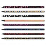 Creion din lemn negru hearts Fatih 7176