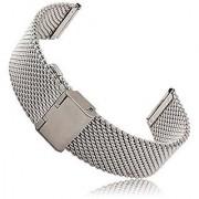 Moto 360 2 Watch Band (2nd Gen Men's 42mm 2015) Threeeggs Stainless Steel Watch Strap Adjustbable Bracelet Band for Motorola Moto 360 2 Men's 42mm Smart Watch (A - Milanese Silver)