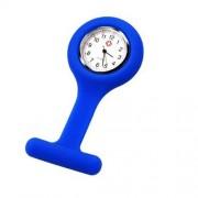 Sonline Krankenschwestern Brosche Silikonkautschuk Armbanduhr Uhr Taschenuhr fuer Kasack Blau