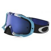 Oakley Crowbar Mx - Pinned Race BlueWht w/BlkIce+Clr - Ski & Snowboard Goggles
