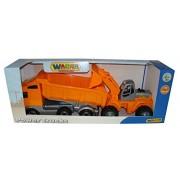 Truck Power trampoliere con Dumper Trailer e Camion con caricatore anteriore Set