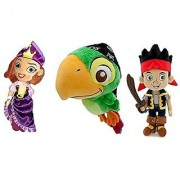 Disney Store Set of 3 Jake & the Neverland Pirates with Jake Skully and the Pirate Princess