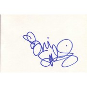 Tori Spelling Autographed Index Card