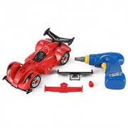 Liberty Imports Formula Racing Car Take-A-Part Toy for Kids with 24 Take Apart Pieces Tool Drill Lights and Sounds