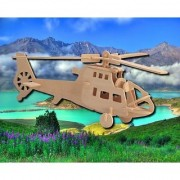 Puzzled Chopper Wooden 3D Puzzle Construction Kit