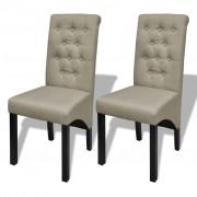 vidaXL Sada 2 antik jídelních židlí béžových