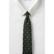 ランズエンド LANDS' END メンズ・シルク・スター・フラワー・タイ/ネクタイ(モスバークフローラル)