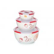 Set 3 boluri ceramice visinii - Oursson - BS2981RC/DC