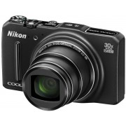 Aparat Foto Digital Nikon COOLPIX S9700 (Negru), Wi-Fi, GPS, Filmare Full HD, 16 MP, Zoom optic 30x