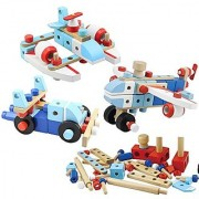 Cp Toys 100 Pc. Deluxe Wooden Builders With Easy-Turn Nuts & Bolts