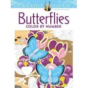 Creative Haven Butterflies Color by Number Coloring Book by Jan Sovak