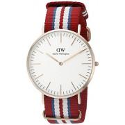 Daniel Wellington 0112DW - Reloj con correa de acero para hombre, color blanco / gris